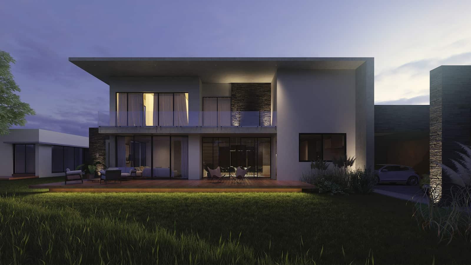 casa-von-raesfeld-fachada-posterior-noche